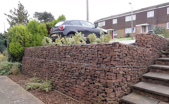 gabion retaining wall Chris Ryall